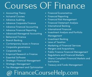 Courses of finance assignment help